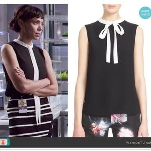 Ted Baker London Olia Bow Tie Crepe Blouse